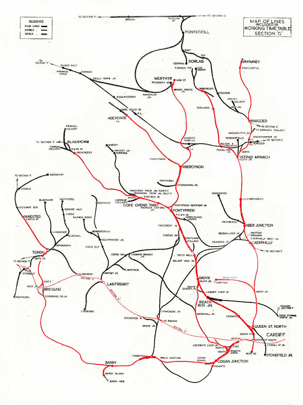 map of south wales railways