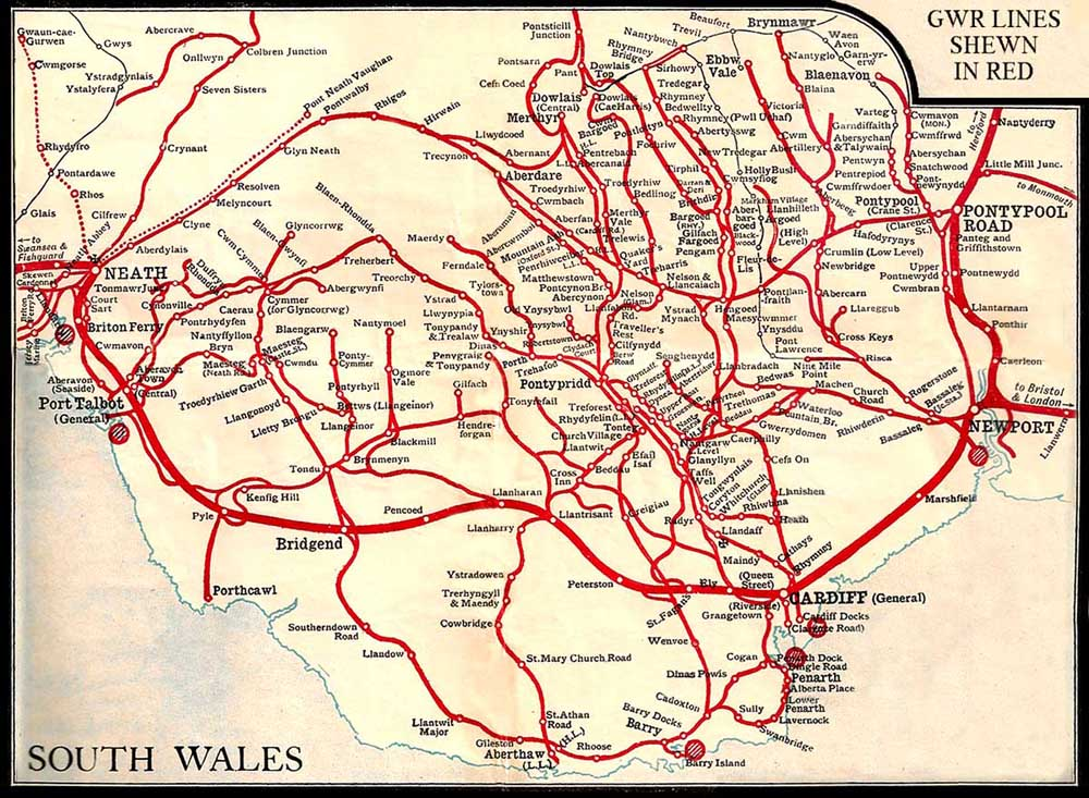 south wales railways map